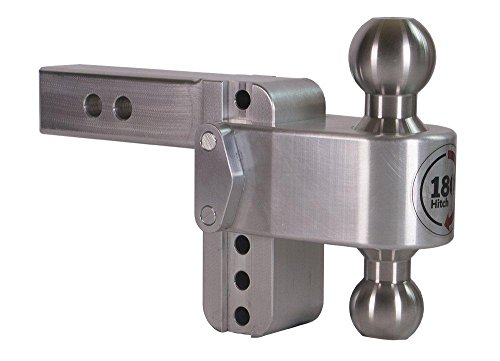 Lowest Price! Weigh Safe TB4-2, 4″ Drop 180 Hitch w/2″ Shank/Shaft, Adjustable Aluminum Trailer Hitch & Ball Mount, Stainless Steel Combo Ball (2″ & 2-5/16″)