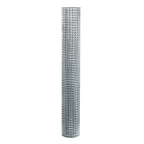 Stainless Steel Woven Wire Mesh PVC Coated Galvanised Steel Wire Garden Fencing Roll Mesh Wire Netting Tough Welded Mesh Net Fence Rabbit Aviary Pet Garden Galvanised Wire Mesh Panels Silver_0.6mx6m