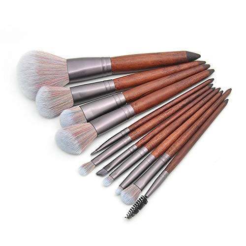 LJTJX Pinceau De Maquillage 11 Pièces/Ensemble Pinceau De Maquillage Poudre Ombre À Paupières Fondation Eyeliner Outil De Maquillage des Lèvres