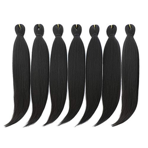DAN NING 24 '' Pre-stretched Braiding Hair Original Kanekalon Braid Hair Extensions Yaki Texture Crochet Twist Hair Braids without Irritation...