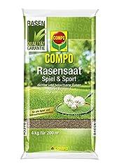 COMPO Gazon zaaien spel en sport, Universele gazon mix, 4 kg, 200 m2 *