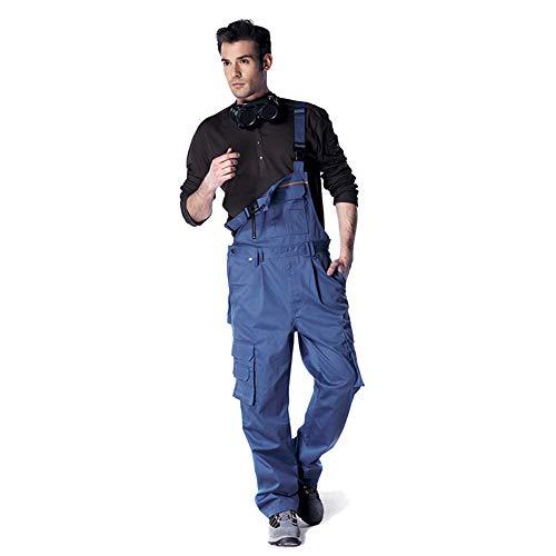 YJKJ Pantalones De Trabajo con Peto, Pantalon De Trabajo, Ropa De Algodón Usable Suelto Gran Bolsillo Fábricas, Edificios, Reparación De Automóviles, Etc,M