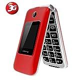 3G Big Button Basic Mobile Phones for Elderly, Dual Sim Free Flip up