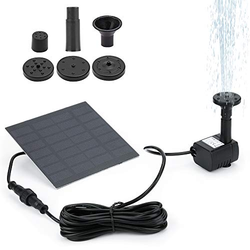Winkeyes Solar Fountain Pump for Birdbath, 1.2W Free Standing Solar Water Fountain, Solar Powered Water Pump Kit for Bird Bath,Small Pond,Garden and Lawn