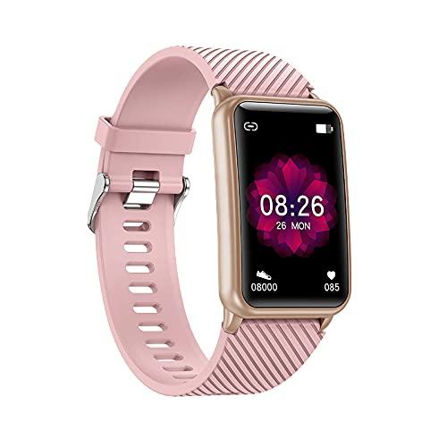 Zwbfu 2021 Fabricante Sales H96 Pulsera Inteligente Bluetooth Llamada Música Reproducción de la frecuencia cardíaca Monitoreo Impermeable(Rosa)