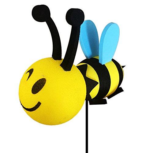 Happy Bee Car Antenna Topper - Antenna Ball