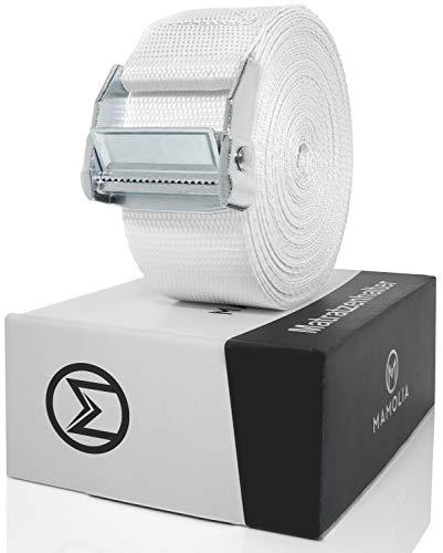 MAMOLIA® Matratzenhalter - Garantiert Fester Halt durch Edelstahlschnalle - Matratzenverbinder für alle Arten von Matratzen geeignet
