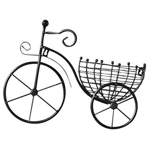 ACAMPTAR Plantador de Metal Bicicleta Colgante de Pared Cesta de Flores SuspensióN Arreglo Floral Contenedor DecoracióN para el Hogar Negro