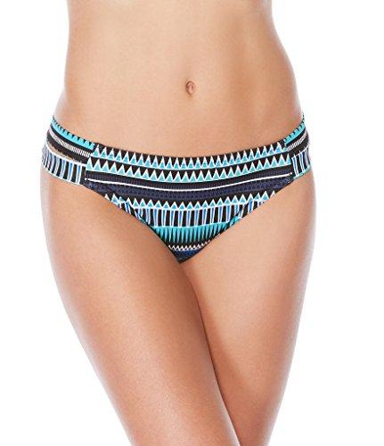 JAG Women's Tribal Essence Strappy Side Bikini Bottom, Cobalt, XS