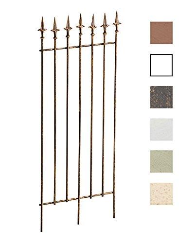 CLP Metall-Rankgitter Elisa I Größe: 100 x 50 cm, Stabstärke 0,7 cm I Rankhilfe für Kletterpflanzen I erhältlich, Farbe:Bronze