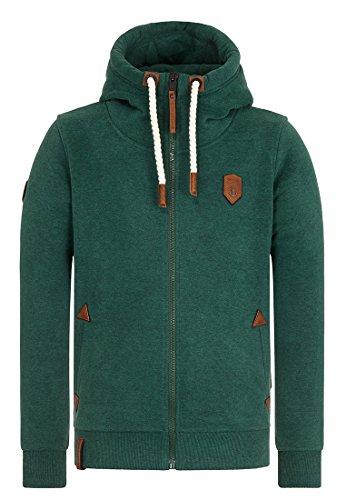 Dirty Schwarzkopf Zip-Hoodie dirty green Größe: S Farbe: dirty-gree