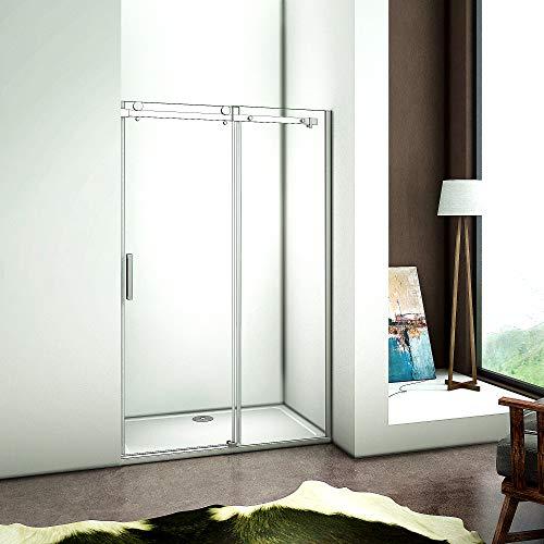 120cm Verstellbereich von 116-120cm Duschabtrennung Nischentür Dusche aus 8mm Sicherheitsglas mit Nanobeschichtung T2