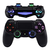 eXtremeRate 10 Colors Modes 7 Areas DIY Option Multi-Colors Luminated D-pad Thumbstick L1 R1 R2 L2 Home Face Buttons, Classical Symbols Button DTFS (DTF 2.0) LED Kit for PS4 JDM-040/050/055 Controller