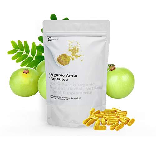 Amla Capsules | Most Potent Natural Source | Ayurveda | Vegetarian & Vegan Friendly | 60 Vegan Capsules, 100% Natural and Organic, High Potency