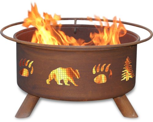 Big Sale Best Cheap Deals Patina Products F107,  30 Inch Bear & Trees Fire Pit