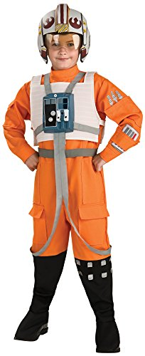 Rubies Star Wars Classic Child's Deluxe X-Wing Pilot Costume, Large