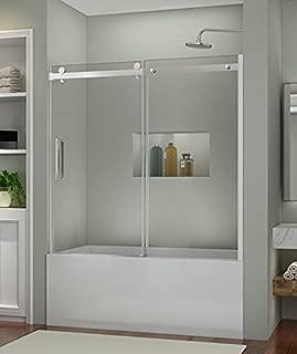 SUNNY SHOWER B038 Frameless Bathtub Glass Door 5/16