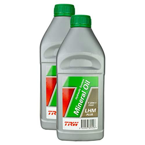 2x Trw Hydrauliköl Mineral Oil Hydraulic System Lhm Plus (mineral) 1 L Pfm201 Grün