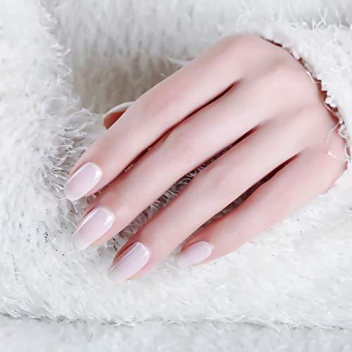 LIHI Color Lab 22PCS (2pcs tiral samples)ADHESION Nail Art Transfer Decals Sticker Solid Color Series DIY Nail Polish Strips ,Nail Wraps, 100% Real Nail polish applique for Manicure, Wedding, Party,A201 Creamy