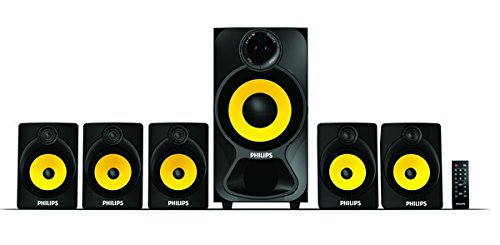 Philips Audios Heart Beat SPA-3800B 5.1 Channel Home Theater System (Black/Yellow)