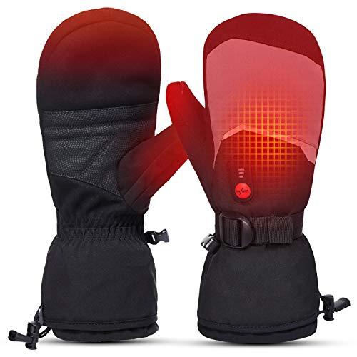 Beheizte Skihandschuhe Herren Damen Kinderhandschuhe Elektrische wiederaufladbare Batteriehandschuhe für den Winter Skifahren Skaten Schnee Camping Wandern Beheizte Arthritis Handwärmer Handschuhe