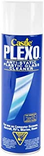 Castle C2010 Plexo Anti-Static Plastic Glass Cleaner, 20 oz, 6-Pack