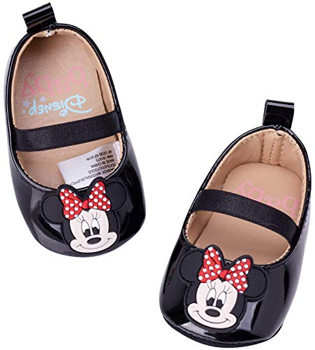 Disney Baby Girls' Shoes - Infant Minnie Mouse Ballet Flats, Minnie Mouse, Size 2