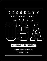 【アメリカ ブルックリン】 余白部分にオリジナルメッセージお入れします!ポストカード・はがき(黒背景)