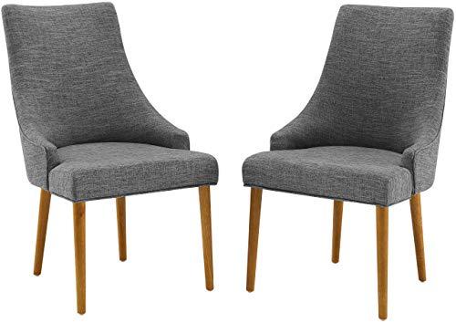 Crosley Furniture Landon Mid-Century Modern Upholstered Dining Chairs, Set of 2, Acorn
