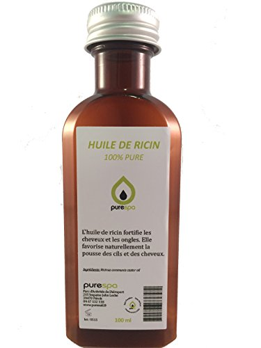 Huile végétale de RICIN pressée à froid- 100% Pure, 100ml Purespa By Purenail, Vegan, Livraison Gratuite en France