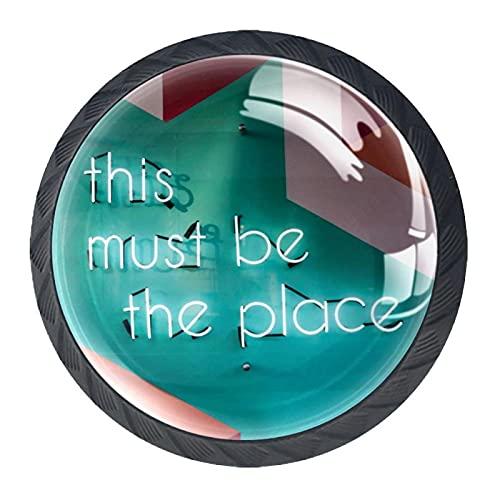 4 st skåpknoppar låda byrå handtag måste vara platsen för rum, kök, kontor och badrum