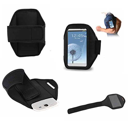 DFV mobile - Neoprene sports armband case premium for lenovo a806 - black