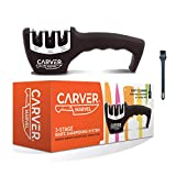 CARVER MARVEL Kitchen Knife Sharpener - Professional 3 Stage Kitchen Sharpener for Premium