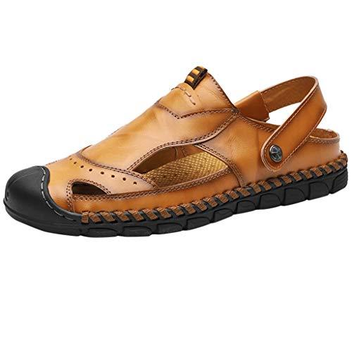 MEIbax Verano Sandalias de Deslizamiento de los Hombres Zapatos de Agua al Aire Libre Zapatillas de Dedo del pie Sandalias de Gran tamaño para Hombre Chanclas caseras de Hombre Zapatos de Playa
