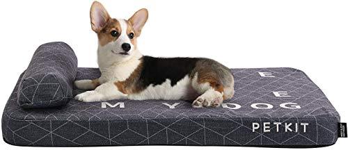 PETKIT Colchón de espuma viscoelástica para perros con cojín, cama ortopédica lavable, sofá cómodo y transpirable para gatos y perros, grosor de 8 cm (Largo90cm * ancho70cm * espesor 8 cm)