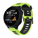 ANBEST Correa de Silicona Compatible para Forerunner 235/735XT/220/230/620/630 Pulsera de Reemplazo Correa Adecuado para Approach S20/S5/S6 Smart Watch, Verde/Negro