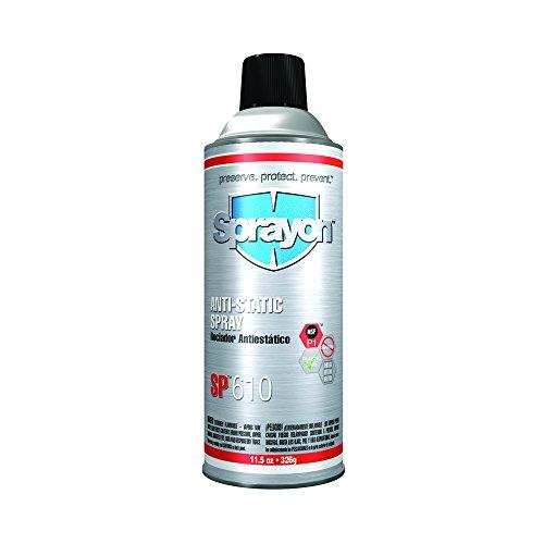 Sprayon 425-S00610 S00610000 SP 610 Anti-Static Spray, 11.5 fl. oz. Aerosol, Clear (Pack of 12)