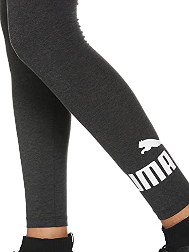 PUMA ESS Logo Leggings Mallas Deporte, Mujer, Dark Gray Heather, S