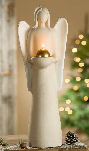 Skulptur Engel LUCIA mit Teelichthalter Sculpture Francis Gilde