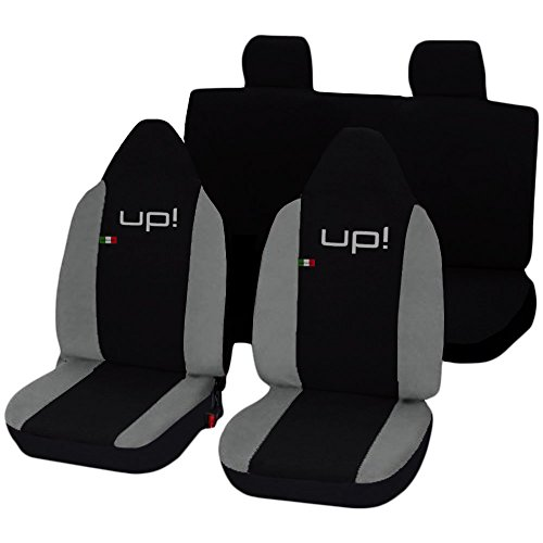 Lupex Shop Up_N.GC Coprisedili, Nero/Grigio Chiaro
