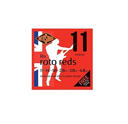 Rotosound R11 - Juego de cuerdas para guitarra eléctrica de níquel, 14 18 28 38 48