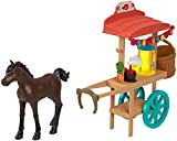 Spirit Untamed Miradero Snack Cart with Rolling Wheels, Canopy, 5-in Pony & Related Accessories, Great Gift for Ages 3 & Up
