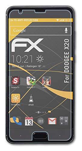 atFolix Panzerfolie kompatibel mit DOOGEE X20 Schutzfolie, entspiegelnde & stoßdämpfende FX Folie (3X)
