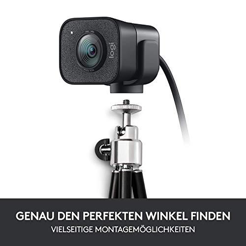 Logitech Streamcam Webcam für Live Streaming und Inhaltserstellung, Vertikales Video in Full HD 1080p bei 60 fps, Smart-autofokus, USB-C, für YouTube, Gaming Twitch, PC/Mac - schwarz