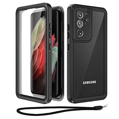 Beeasy Cover Samsung Galaxy S21 Ultra 5G, Cover Samsung S21 Ultra IP68 Impermeabile, Galaxy S21 Ultra Cover Antiurto, con Protezione per lo Schermo, Subacquea Protettiva Custodia, Nero
