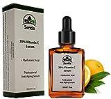 Vitamin C Serum. Anti Aging skincare. 20% Solution + Hyaluronic Acid + Collagen