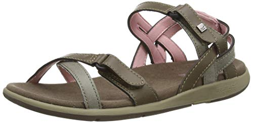 Regatta Santa Cruz, Sandal Mujer, Walnut/Mellow Rose, 36 EU