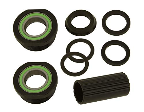 Alta Bicycle Bottom Bracket Set European Kit Spindle Type 19mm in Black