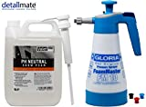 detailmate Prewash Set: Gloria FM10 Schaumsprüher Foam Master 1L + ValetPro pH neutral Snow Foam 5L Dispenser Pumpe