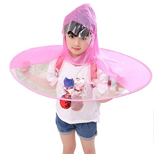 Betty Raincoat Regenschirm-kreativer Hauptschirm, Ultra Heller Mantel-geformter Kinderregenmantel-transparente zusammenklappbare Regen-Ausrüstung für Studenten (Farbe : Pink, größe : L)